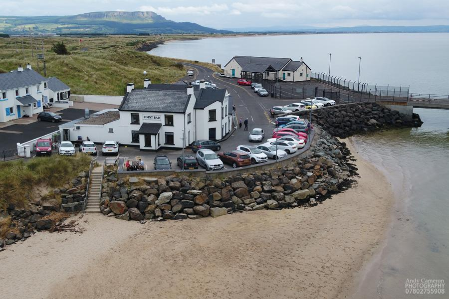 Waterfront restaurant, Point Bar, Magilligan